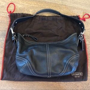 Coach Bags - Coach Black Leather Small Hobo